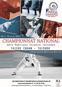 Affiche Championnat AMCI 2017 - FAEMC - Tai chi chuan - Tai-chi-chuan - Martial - Tai-chi-chuan Martial - Tai-chi-chuan Santé - Qi Gong - Sanda - Gu Qi Dao - Aramis - Houilles