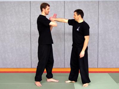 Presser le poignet vers le bas (Chin-na de Shaolin) - Tai chi chuan - Tai-chi-chuan - Martial - Tai-chi-chuan Martial - Tai-chi-chuan Santé - Qi Gong - Sanda - Gu Qi Dao - Aramis - Houilles